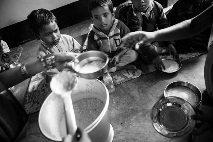 Little Big help. Mejnecke, Indien. Reportage, kunstfoto