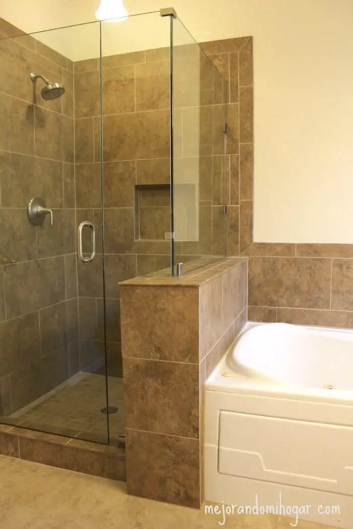 Diy bathroom shower remodel. . remodelación del baño principal o ...