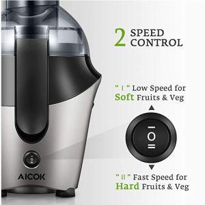 La licuadora Aicok de 500W de centrifugado tiene dos velocidades