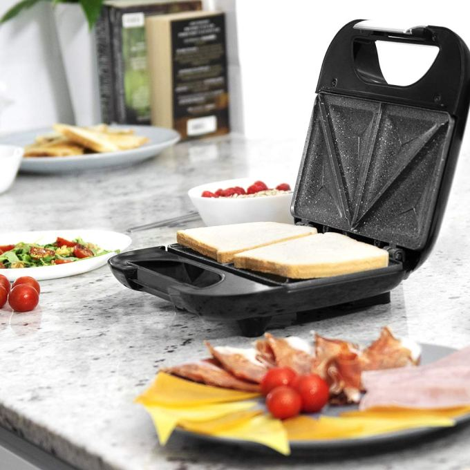 Sandwichera Cecotec Rock´n Toast Fifty-Fifty con revestimiento de piedra RockStone