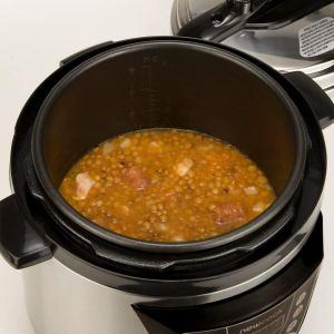 Olla programable New chef 3d cocinando lentejas