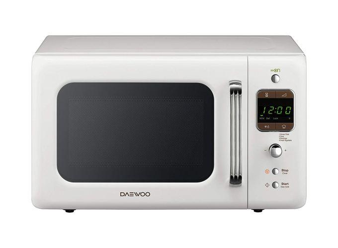 microondas daewoo KOG-6lbw de 20 litros panel led y 800w blanco