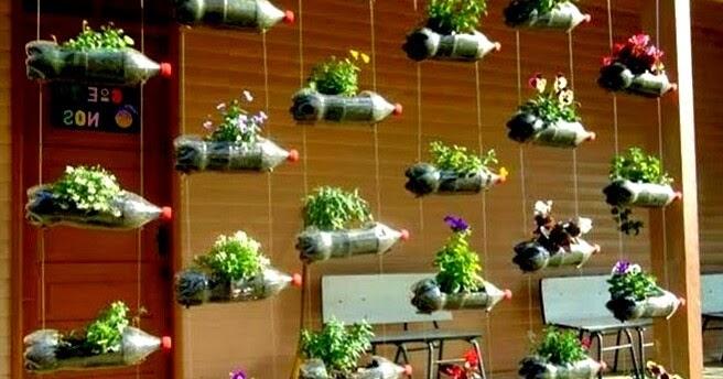 Cara Membuat Vertical Garden dari Botol Bekas di Rumah Anda | Artikel Pertanian