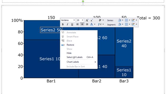 Formatting Labels in a Marimekko Chart