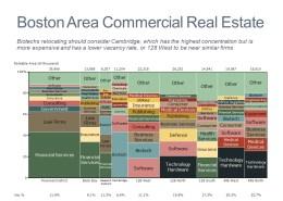 Marimekko Chart of Boston Commercial Real Estate by Neighborhood and Industry