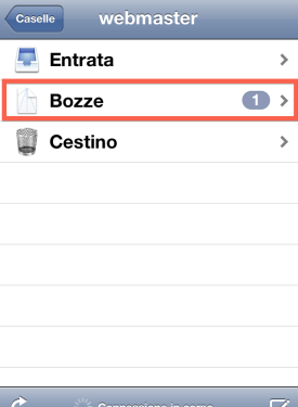 accedere a booze mail iOS