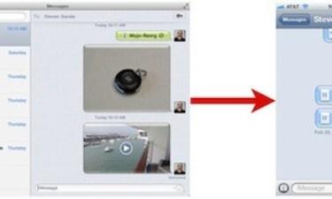 Messages invio file da Mac ad iPhone