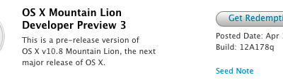 OSX Mountain Lion Preview 3