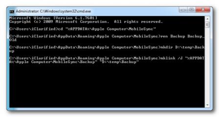 Backup itunes windows 5 for Cambiare il percorso dei backup del tuo iphone