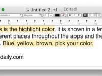 colore testo evidenziato Mac