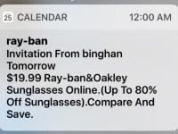spam calendario iCloud