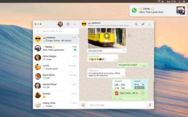 Whatsapp desktop Mac