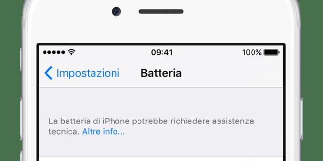 iOS 10.2.1 avvisa quando dobbiamo sostituire la batteria di iPhone