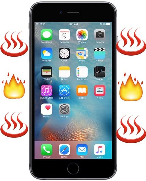iPhone si surriscalda