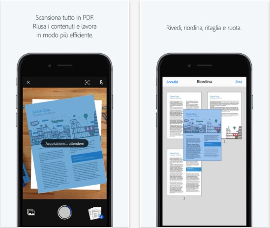 Adobe Scan OCR su iPhone