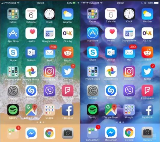 iOS 11 vs iOS 10