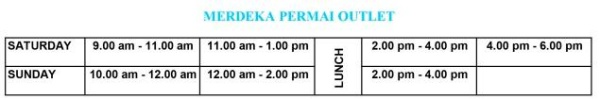 Robotic Class Timetable Merdeka Permai