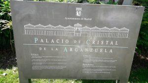 palacio de cristal de arganzuela placa