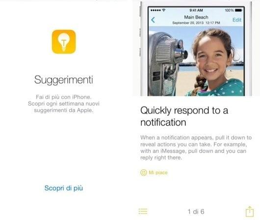 suggerimenti iOS 8