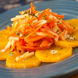 Carrot, Apple and Orange Salad with Ginger Dressing