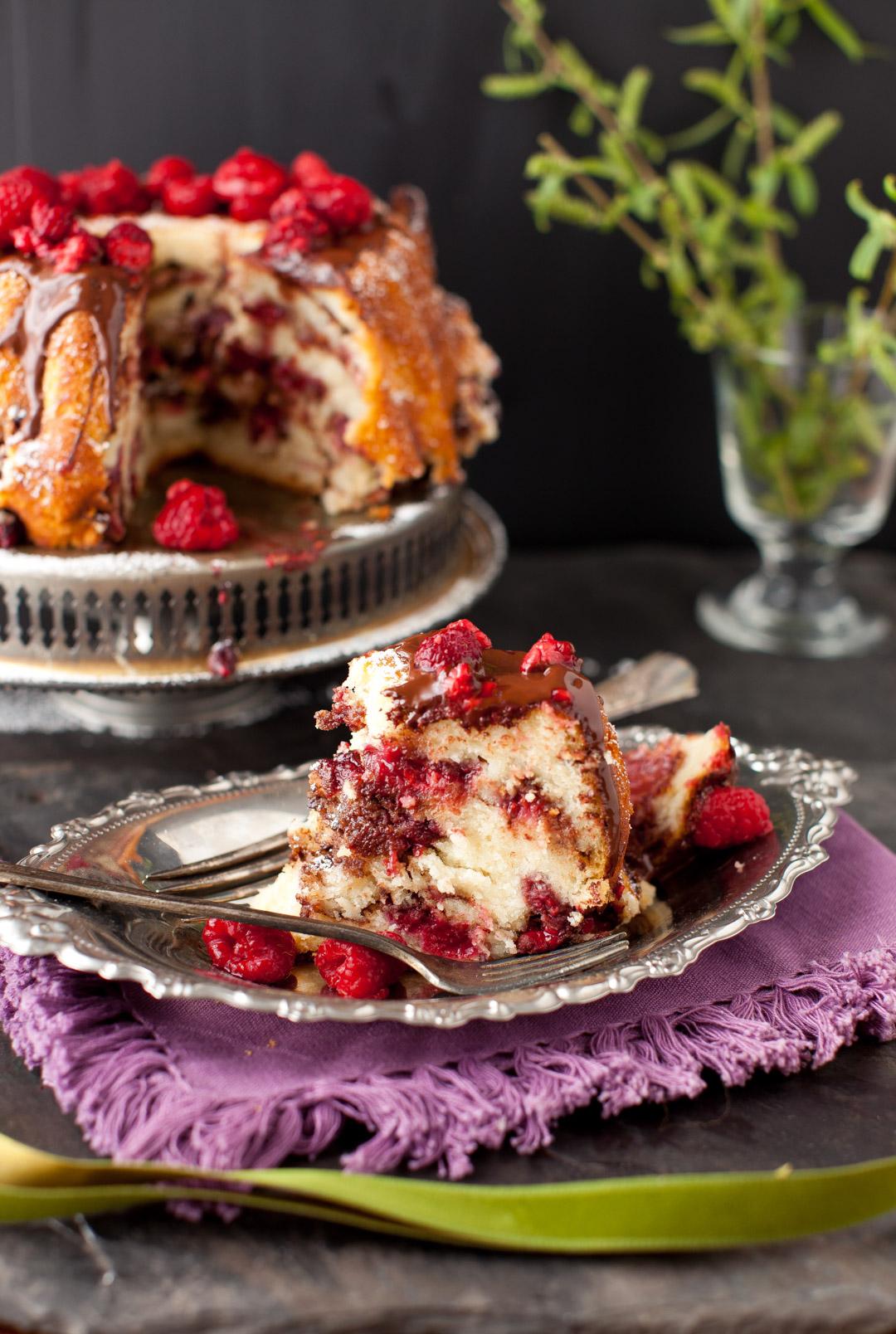 Raspberry Chocolate Coffee Cake - Sweet Weekend - Cooking ...