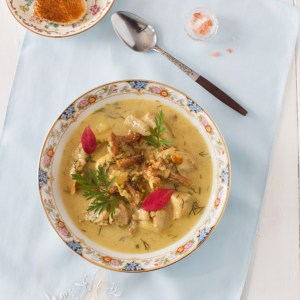 Turkey Soup with Mushrooms - Simple but Flavorful Recipe for Leftover Turkey