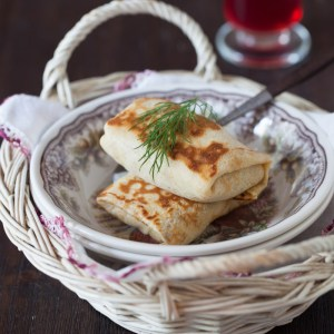 "Russian Monday: ""Blintzes"" with Cabbage - Stuffed Pancakes"