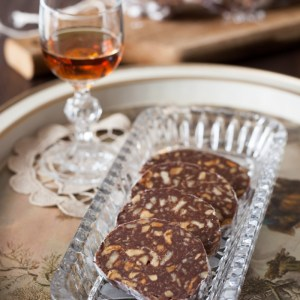 "Russian Monday: ""Shokoladnaya Kalbaska"" - Chocolate Biscuit ""Salami"" with Walnuts & Rum (no bake)"
