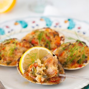 Old-Fashioned Stuffed Baked Clams
