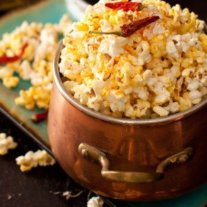 Happy 4th of July! Garlic Popcorn with Cayenne Pepper