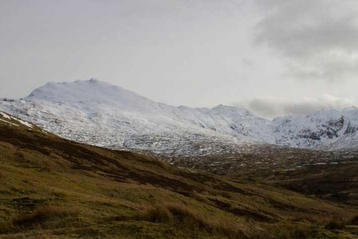 Photo of snow capped mountains in Perthshire