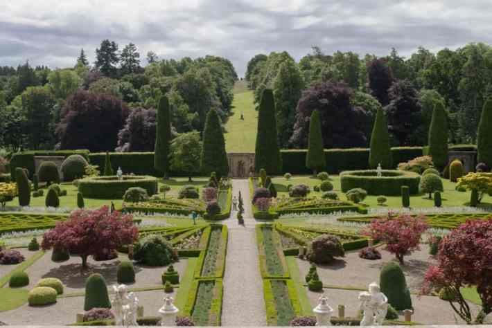 Drummond Castle and Gardens, Perthshire, Scotland