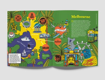 illustrated map of melbourne
