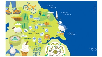 illustrated map of yorkshire