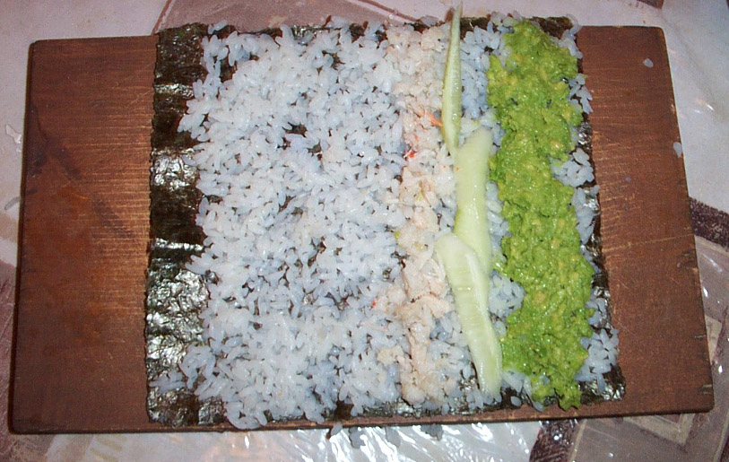 how to make california rolls instructions