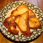 easy homemade french toast on a plate