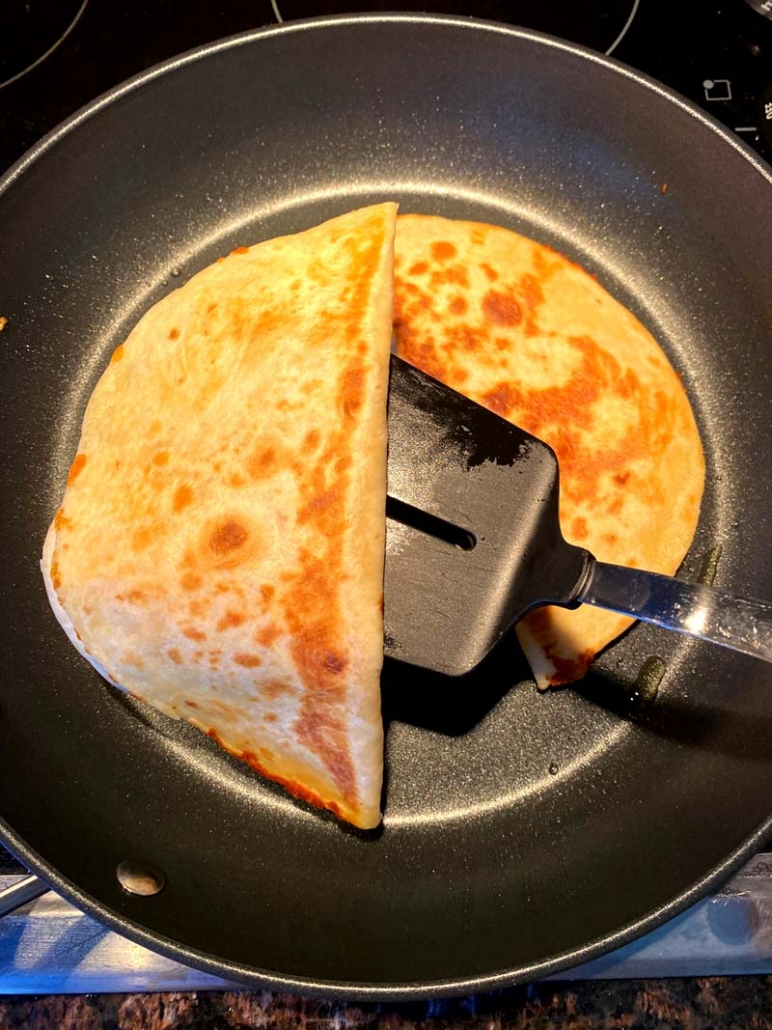 crispy cheese quesadilla