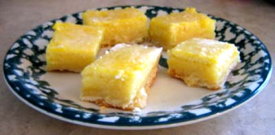 lemon bars 4th of july desserts recipe
