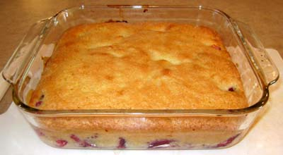 the plum cake - ready to slice