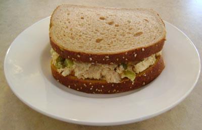 picture of yummy chicken salad sandwich