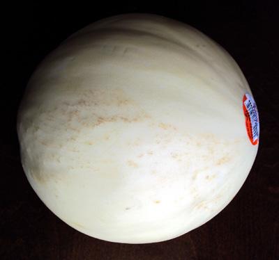 how to cut a melon - whole melon