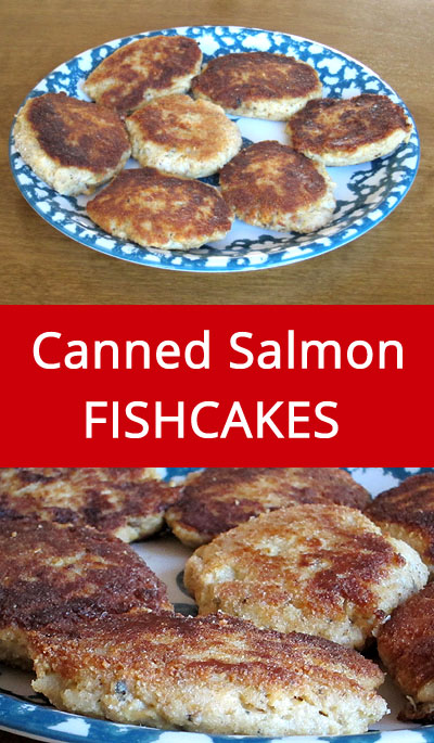 Easy Canned Salmon Fish Cakes Recipe | MelanieCooks.com