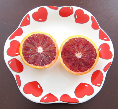 blood tangerine orange cut in half