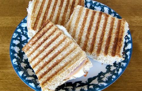 turkey and cheese panini sandwich