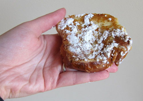 piece of challah french toast