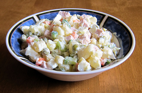 olivie (olivier) russian potato salad