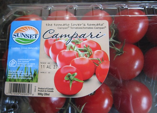 campari tomatoes in a box