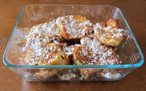 storing french toast