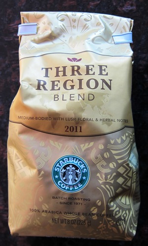 3 region blend coffee from starbucks