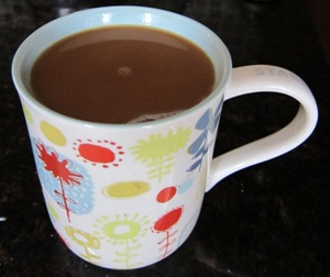 cup of freshly made coffee